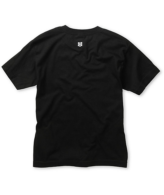 KR3W Boys Shortstop Black T-Shirt