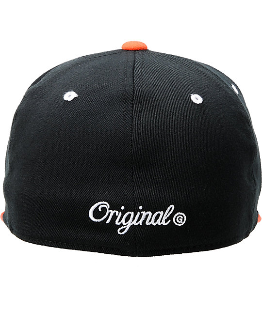 KR3W Brackets Black & Orange Hat