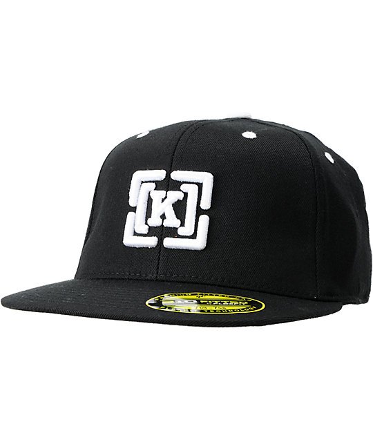 KR3W Brackets Black 210 FlexFit Hat