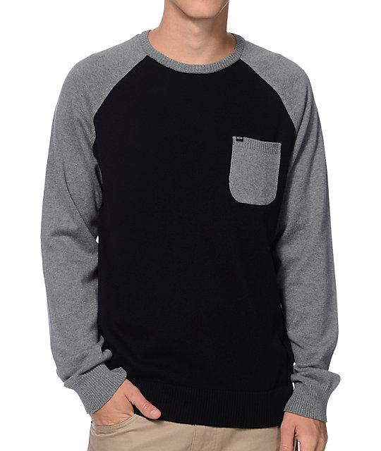 Sweater Raglan Pocket Grey Kr3w Camden amp; Black