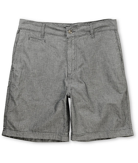 KR3W Chambray Charcoal Grey Shorts