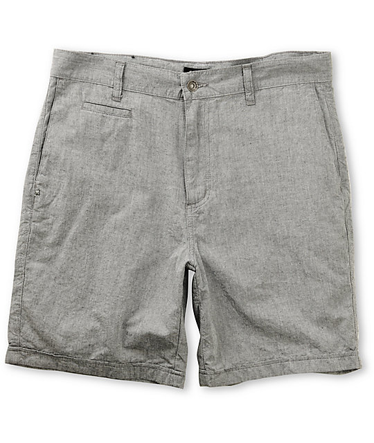 KR3W Chambray Light Grey Chino Shorts