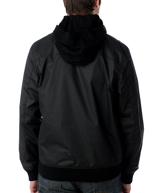 KR3W CleMens Black Windbreaker