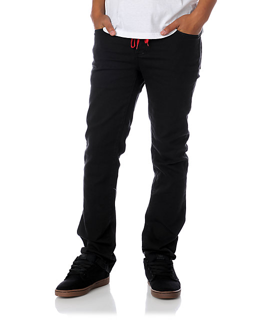KR3W EE Slims Black Denim