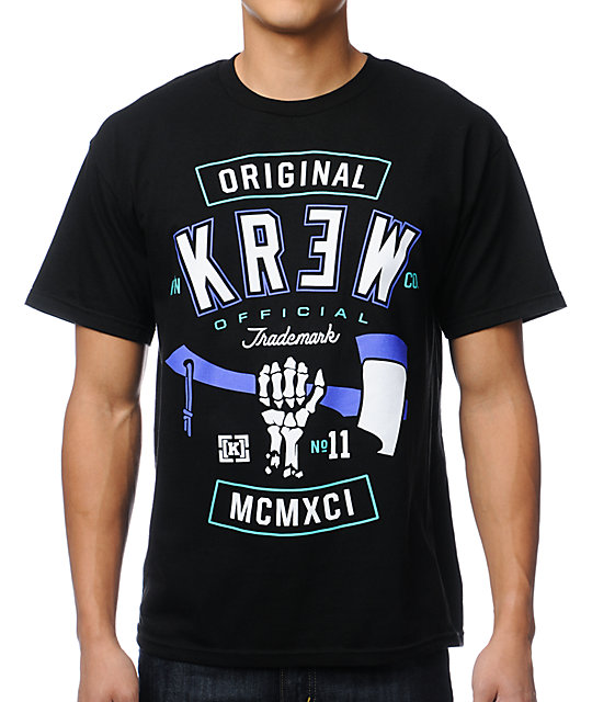 KR3W Hack Black T-Shirt