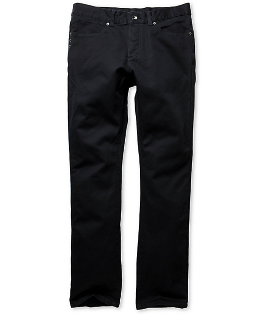 KR3W K Slim Blue Slim Fit Twill Pants