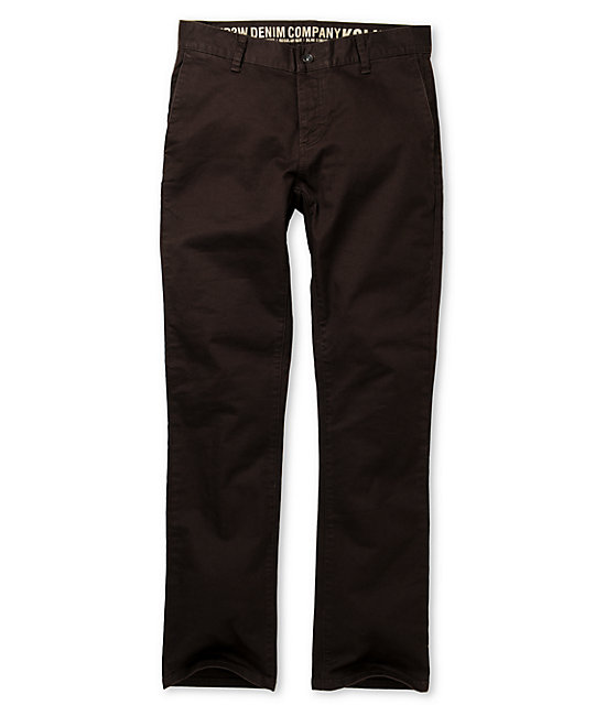 KR3W K Slim Brown Chino Pants