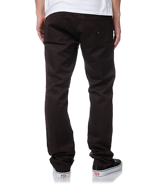 KR3W K Slim Brown Twill Pants