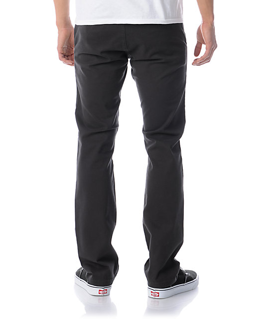 KR3W K Slim Dark Grey Chino Pants