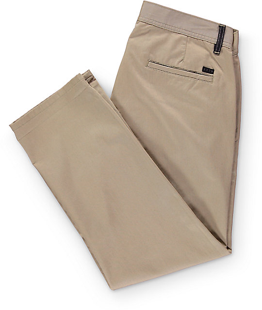 KR3W Klassic Cropped Dark Khaki Chino Pants