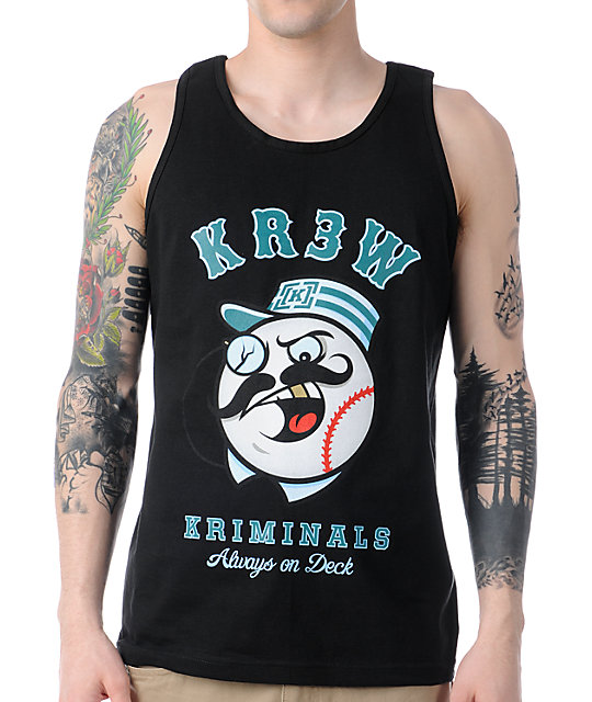 KR3W Kriminals Black Tank Top