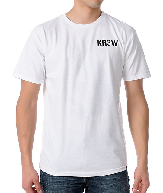 KR3W Lizard Flip White T-Shirt