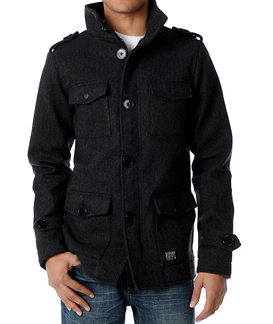 KR3W Manchester Charcoal & Black Jacket