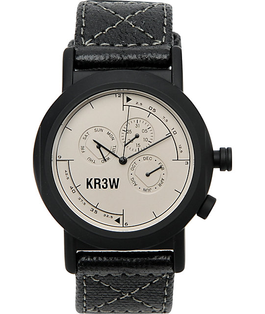 KR3W Navigator White Analog Watch
