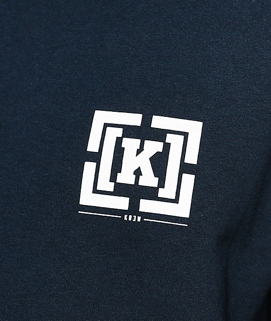 KR3W OG Bracket Navy Long Sleeve T-Shirt