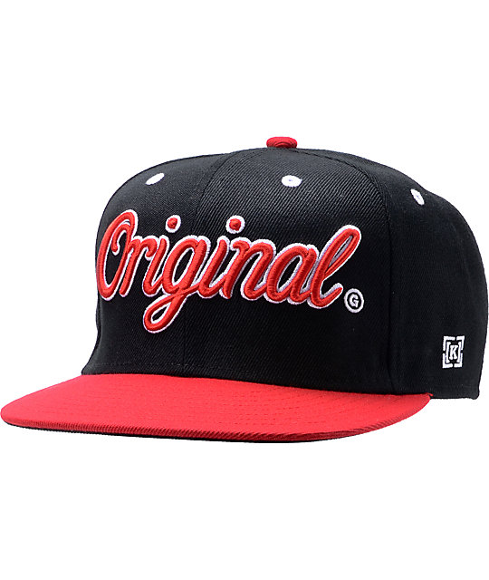 KR3W Original 2-Tone Black & Red Snapback Hat