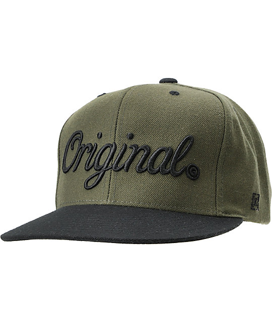 KR3W Original Green   Black 2Tone Snapback Hat  84606a4c5a1