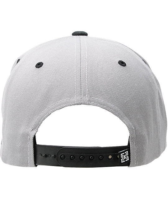 KR3W Original Grey & Black Snapback Hat