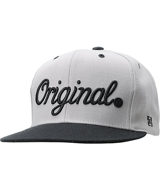 KR3W Original Grey   Black Snapback Hat  ae27c4b94d9