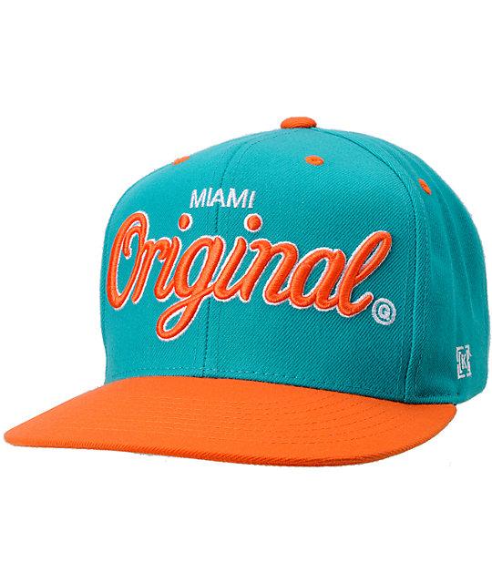 KR3W Original Miami City Snapback Hat  8d9e4cc2f0d