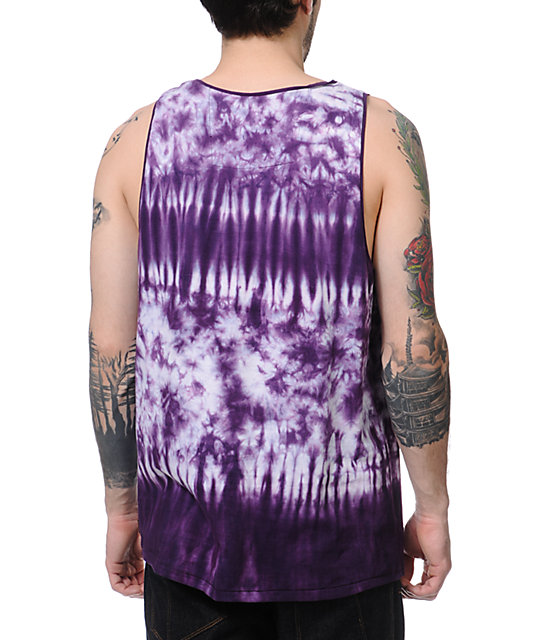 KR3W Screamer Purple Tie Dye Tank Top
