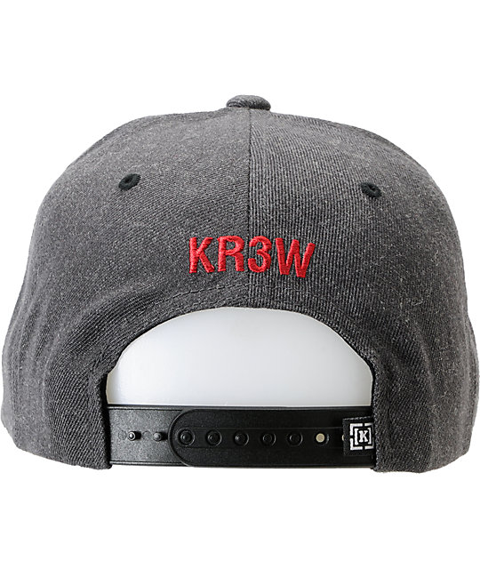 KR3W Seed Patch Charcoal Snapback Hat