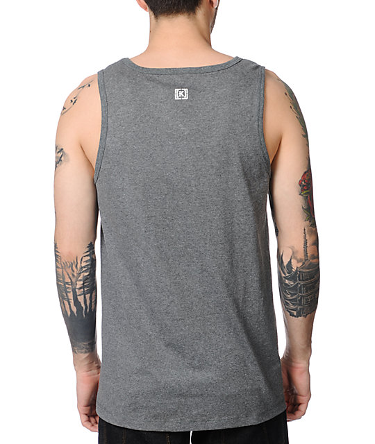 KR3W Shovelhead Heather Charcoal Tank Top