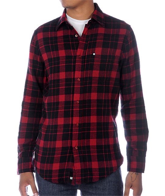 KR3W Steen Red Flannel Shirt