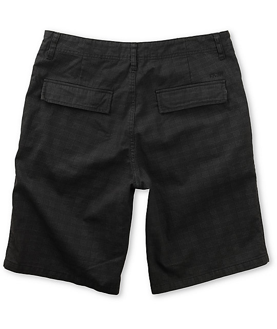 KR3W Sully Black Plaid Shorts
