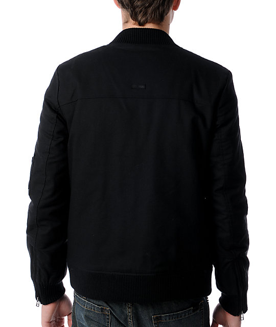 KR3W Tucker Black Flight Jacket