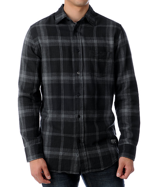KR3W Wade Black & Grey Flannel Shirt