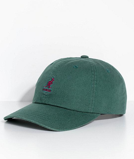 93b01a12d18 Kangol Algae Green Washed Strapback Hat