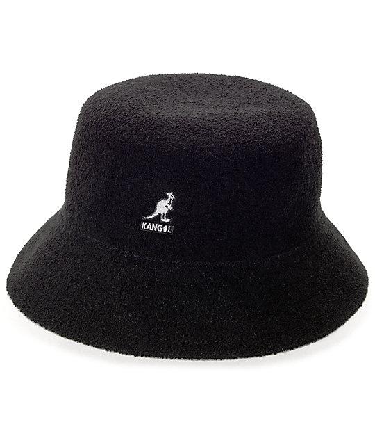 Kangol Bermuda Black Bucket Hat  a9705e07e90