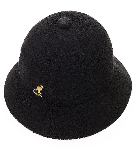 0857962b13a62 ... Kangol Bermuda Casual Black   Gold Bucket Hat