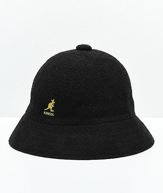 1ff3d3edce2aa Kangol Bermuda Casual Black   Gold Bucket Hat