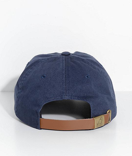 987da2ba5d8c1 ... Kangol Navy Washed Strapback Hat
