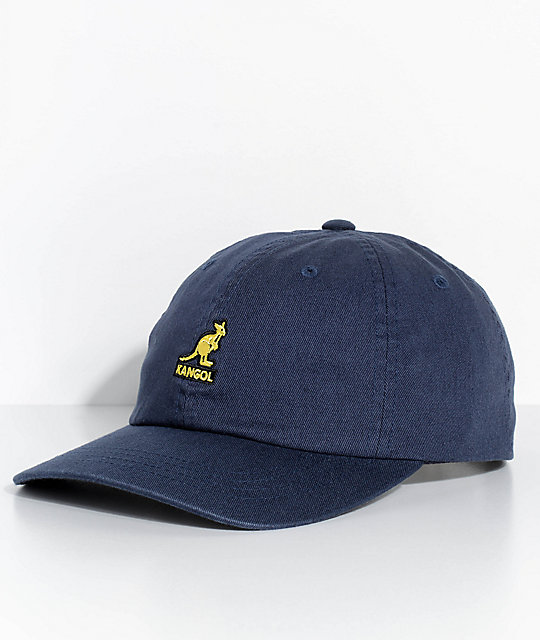 b36595d8bcf Kangol Navy Washed Strapback Hat