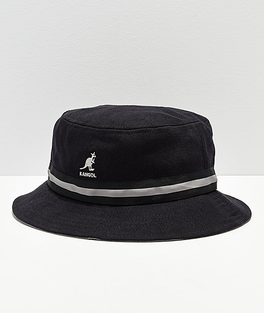 395b514ace2 Kangol Stripe Lahinch Black Bucket Hat