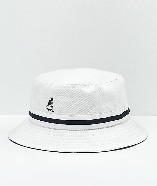 Kangol Stripe Lahinch White Bucket Hat  f169ff972bf7