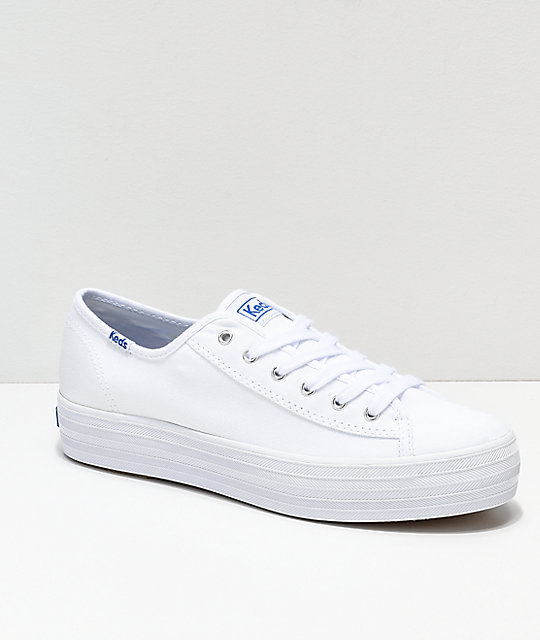 cd42ee800adb2 Keds Triple Kick White Canvas Shoes