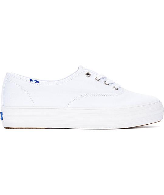 3119abf87e9 ... Keds Triple White Platform Shoes