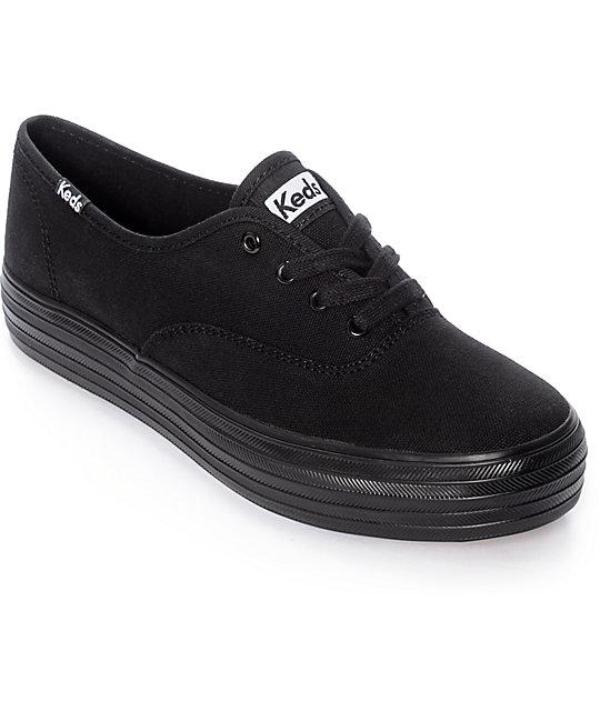 Zapatos negros Keds para mujer wyNMnl8