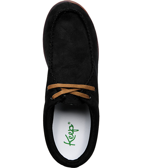 Keep Solis Black Suede Shoes