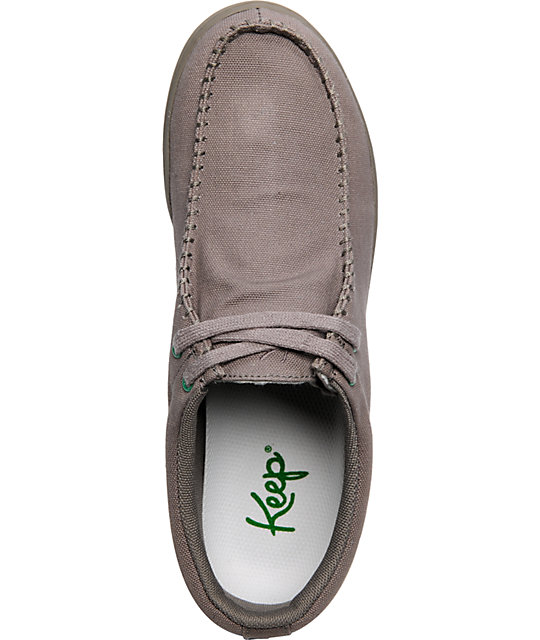 Keep Solis Grey Canvas Shoes
