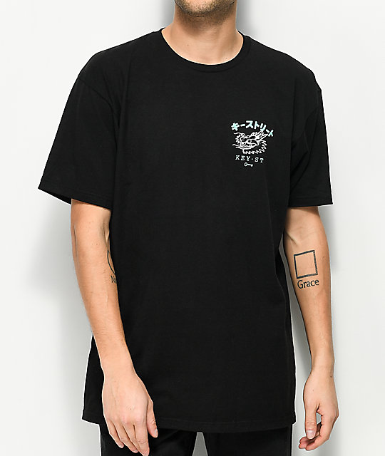 Key Street Dragon Black T-Shirt