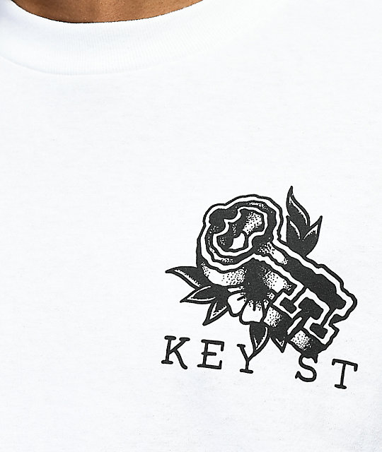 Key Street Rock Of Ages White T-Shirt