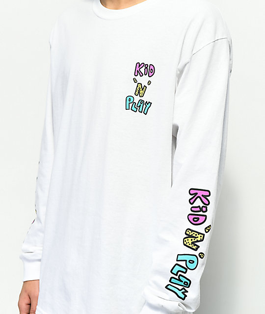 Kid 'N' Play White Long Sleeve T-Shirt