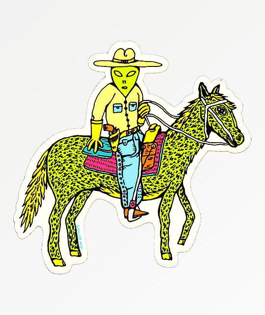 Killer Acid Alien Cowboy Sticker