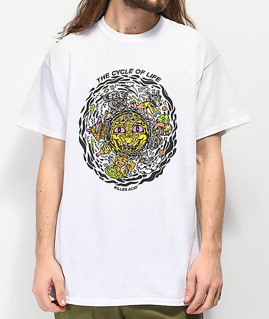 Killer Acid Cycle of Life camiseta blanca.