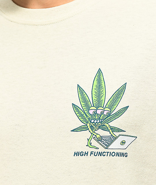 Killer Acid High Functioning camiseta beige